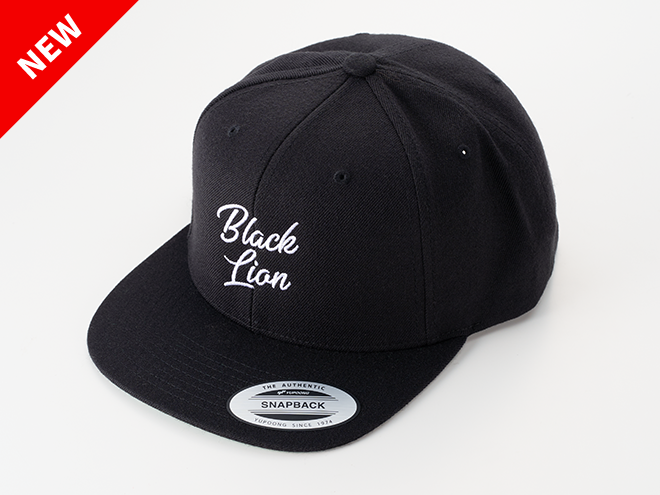 BLACKLION newLOGO FLAT CAP(ブラック)