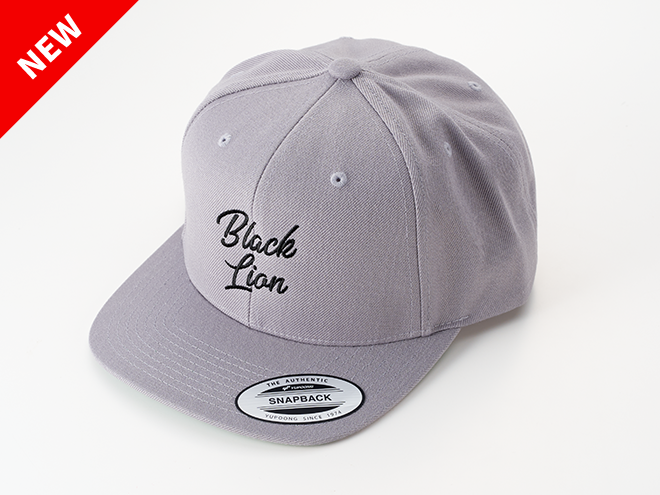 BLACKLION newLOGO FLAT CAP(グレー)